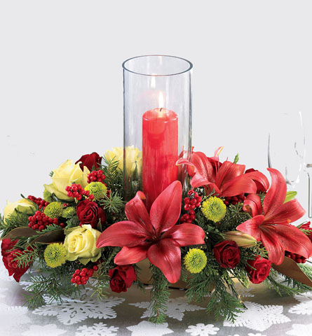 Pam's Garden - Centerpieces - FTD's Lights of Christmas ...